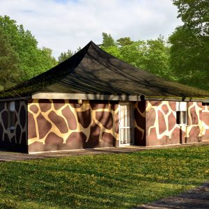 Groepsjungalow in vakantiepark Beekse Bergen